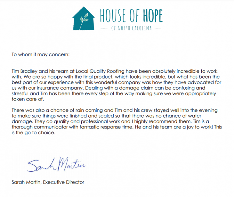 Giving Back-House Of Hope